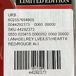 Très Rare Lust For Life/love Lana Del Rey Heart Shaped Red 10 Vinyle Flambant Neuf