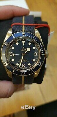 Tudor Black Bay Bronze 79250bb Blue Bucherer Limited Edition Tout Neuf