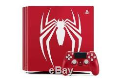 Unopened Spider-man Ps4 Pro 1tb Limited Edition Console Bundle Tout Neuf