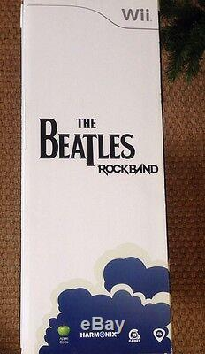 Wii The Beatles Rock Band Limited Edition Pack Premium Tout Neuf Scellé