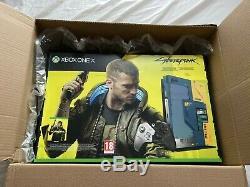 Xbox One X 1tb Limited Edition Cyberpunk 2077 Console Bundle Marque Nouveau, Scellé