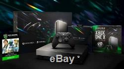 Xbox One X Eclipse Bundle Limited Edition (taco Bell Console) Marque New Unopened