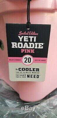 Yeti 20 Pintes Rose Roadie Cooler! Edition Limitée Couleur! Tout Nouveau Dans La Boite! L @@ K