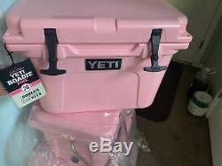 Yeti Roadie 20 Tundra Cooler Limited Edition Rose Tout Neuf Dans La Boite Chapeau Inclus