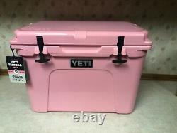 Yeti Tundra 50 Cooler Pink Limited Edition Brand Nouveau! Y Compris Chapeau Rose Yeti