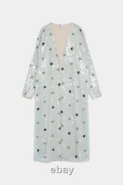 Zara Edition Limitée Paillettes/béjouets Kimono Coat M Ref 6206/002 Brand New Tags